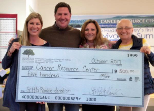 St. Pat's Ramble Cancer Resource Center Donation